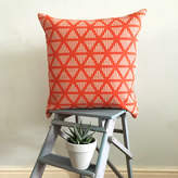 Lara Görlach Screen Printed Geometric Triangle Stripe Cushion