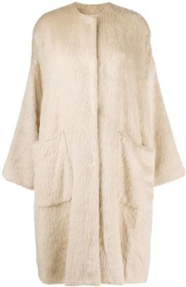 UMA WANG Faux-Fur Mid-Length Coat