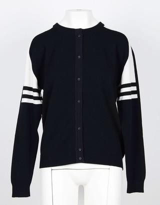 Lamberto Losani Blue Pure Cashmere Women's Sweater w/Front Button