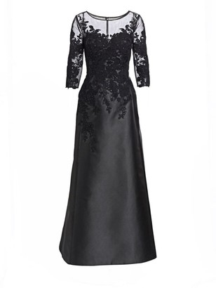 Helen Morley Shiffly Lace Illusion A-Line Gown