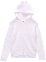 Pink Angel Off-White Cable-Knit Zip Hoodie - Toddler & Girls