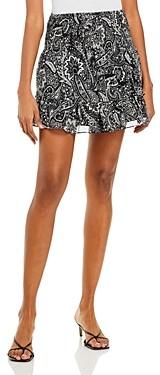 Aqua Smocked Floral Mini Skirt - 100% Exclusive