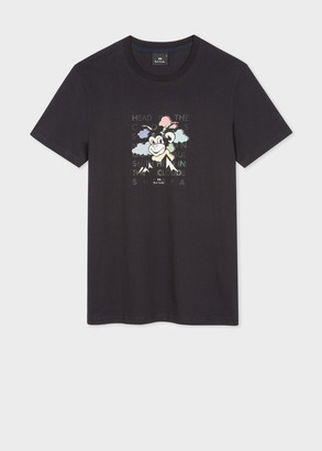 Paul Smith Men's Slim-Fit 'Head In The Clouds' Print Organic Cotton T-Shirt