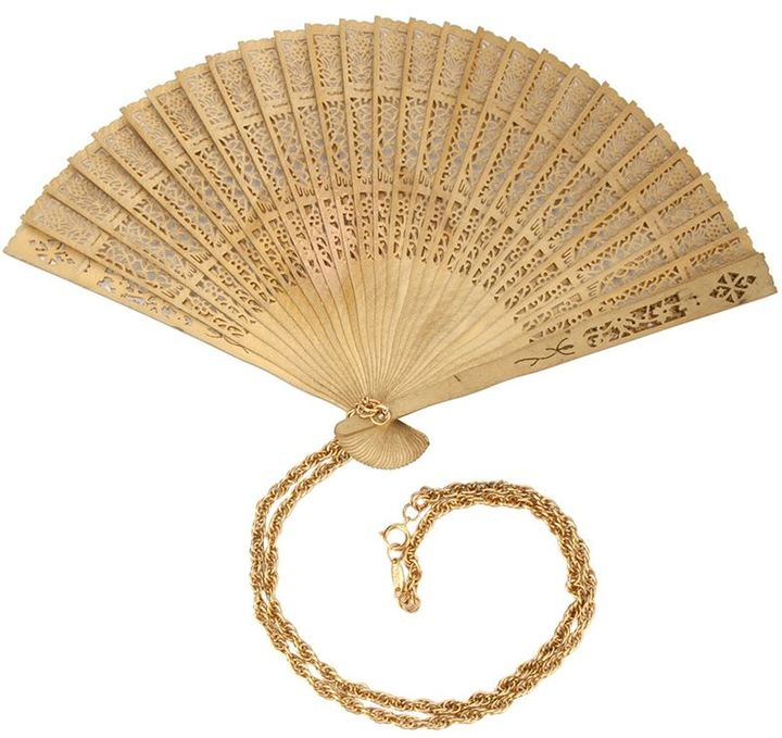 Moschino Vintage Fan Pendant Necklace