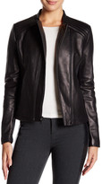 Tahari Kirsten Genuine Leather Zip Jacket