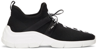 Prada Black Knit Logo Sneakers