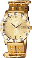 Versus By Versace Miami Crystal Round 40mm Women's Watch, Golden