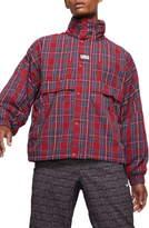 Nike Plaid Hooded Nylon Jacket