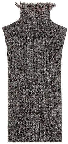 Valentino Knitted cotton and wool top