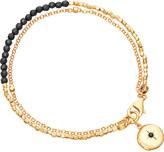 Astley Clarke Biography 18ct gold-plated black spinel bracelet