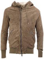 Giorgio Brato zipped hooded ribbed jacket