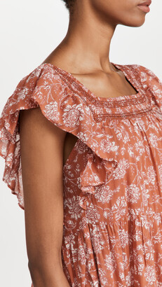 Free People Bonita Printed Midi Dress