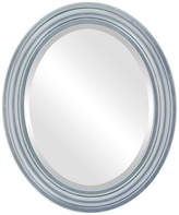 """The Oval And Round Mirror Store Philadelphia Framed Oval Mirror in Silver Leaf w/ Black Antique, 19""""x2"""