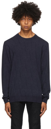 Etro Navy Knit Crewneck Sweater