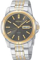 Seiko Men's SGG786 Two-Tone Stainless-Steel Quartz Watch with Black Dial