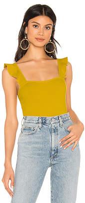 Privacy Please Cleo Ruffle Bodysuit