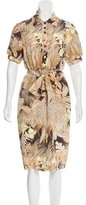 Salvatore Ferragamo Silk Printed Shirtdress