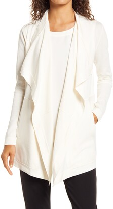 Anne Klein Drape Front Pocket Cardigan