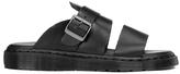 Dr. Martens Men's Shore Brelade Buckle Leather Slide Sandals Black Brando