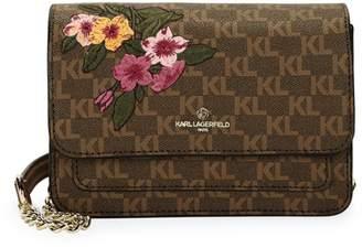 Karl Lagerfeld Paris Amelie Monogram Leather Crossbody Bag