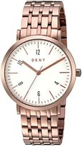DKNY Women's Quartz Stainless Steel Casual Watch, Color:Rose Gold-Toned (Model: NY2504)