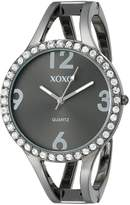 XOXO Women's Dial Gun Metal Bangle Watch XO1093
