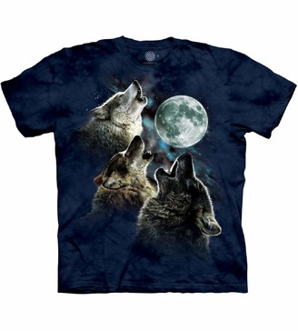 The Mountain Three Wolf Moon T-Shirt 4X-Large