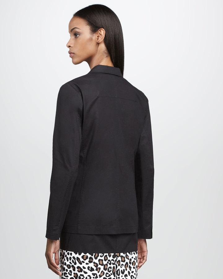 Neiman Marcus Three-Button Blazer