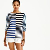 J.Crew Patchwork-striped T-shirt