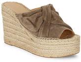 Marc Fisher Aida Suede Espadrille Platform Wedge Sandals