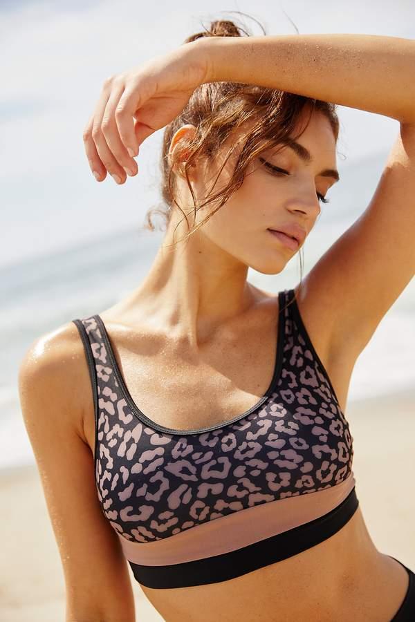 Beach Riot Poppy Printed Bikini Top