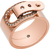 Michael Kors Rose-Gold Buckle Ring