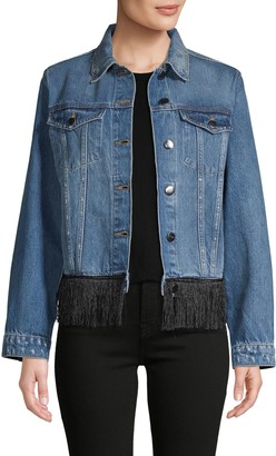 Frame Fringed Denim Jacket