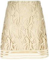 No.21 lace skirt - women - Polyester/Viscose/Metallic Fibre - 38