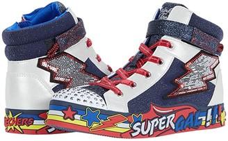 Skechers Twinkle Toes - Twinkle Lite 314031L (Little Kid) (Navy/Multi) Girl's Shoes