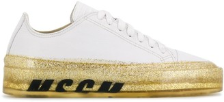 MSGM Floating glitter sole low-top sneakers