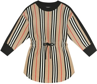 BURBERRY KIDS Aurora Icon Stripe cotton dress