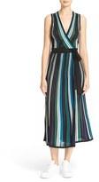 Diane von Furstenberg Women's Cadenza Sparkle Stripe Knit Wrap Dress