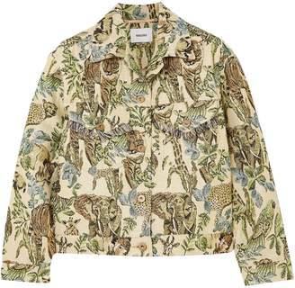 Nanushka Kiowa Fringe-trimmed Jacquard Jacket