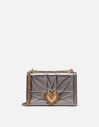 Dolce & Gabbana Large Devotion Bag In Quilted Mordore Nappa