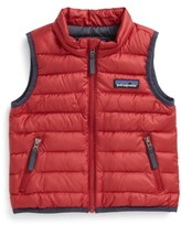 Patagonia Infant Boy's Windproof & Water Resistant Down Sweater Vest