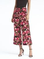 Banana Republic Blake-Fit Floral Belted Wide-Leg Crop Pant