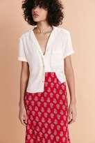Cooperative Florence Short-Sleeve Button-Down Blouse