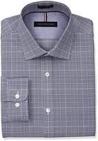 Tommy Hilfiger Men's Non Iron Slim Fit Plaid Spread Collar Dress Shirt