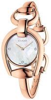 Gucci YA139508 Horsebit Rose Goldtone Bangle Watch