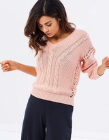 Miss Selfridge Lattice Crochet Cable Jumper