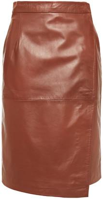 Muu Baa Muubaa Leather Wrap Skirt