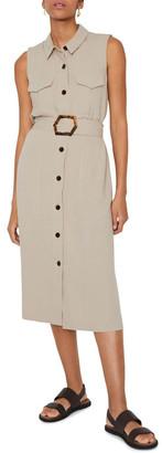 Warehouse Linen Buckle Shirt Dress