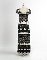 Karen Kane Tribal Print Maxi Dress