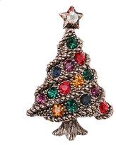 SUNSHINE Christmas Vintage Antique Gold Christmas Tree Brooch Pin Christmas gifts